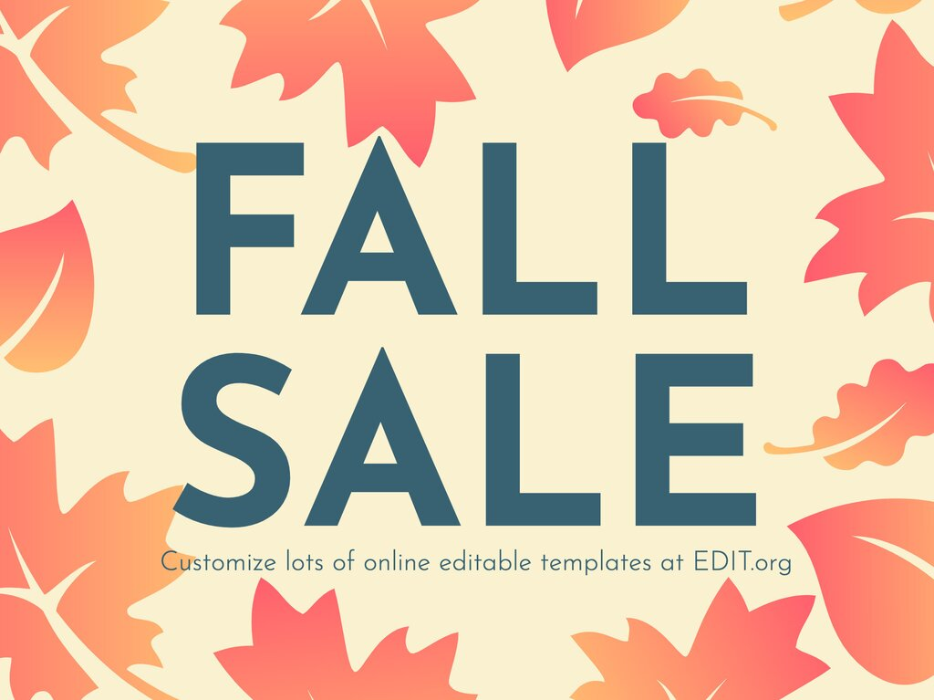 Edit a design for fall sales