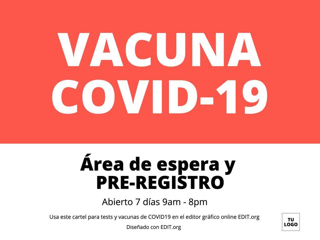 Carteles para tests y vacunas para Covid-19