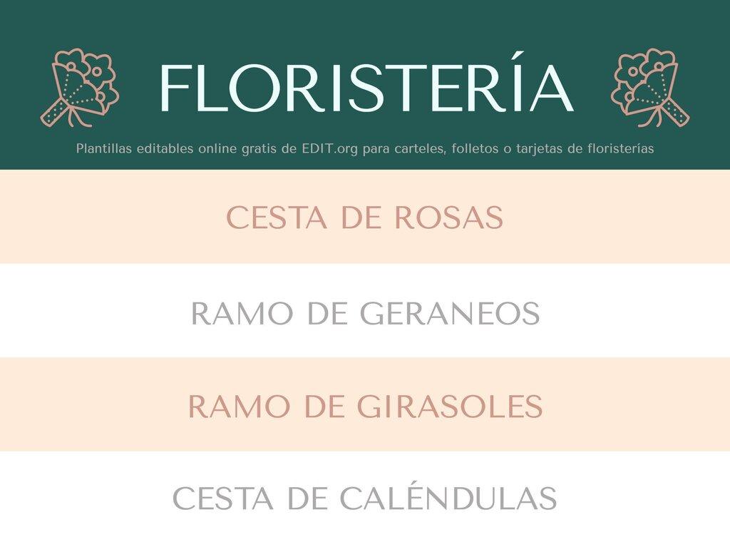 Edita un diseño para floristerías