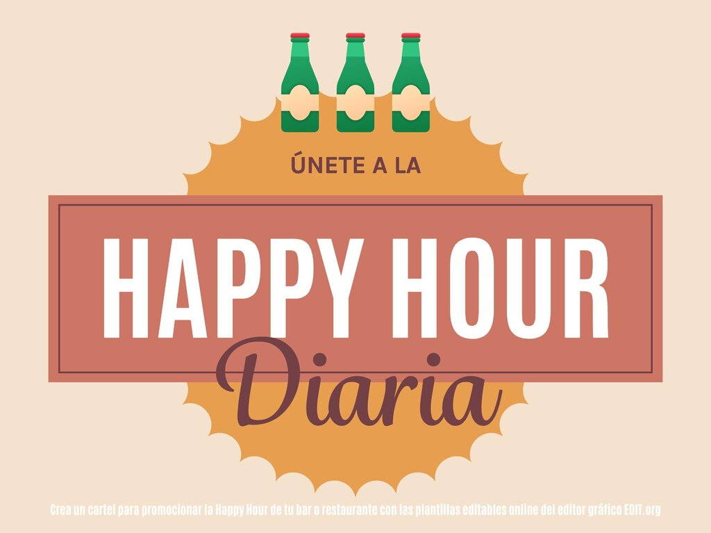 Edita una plantilla Happy Hour