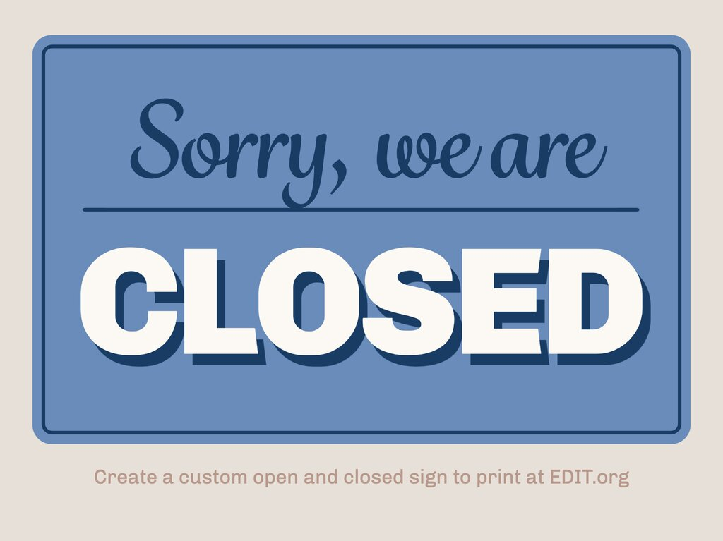 Edit an Open / Closed sign