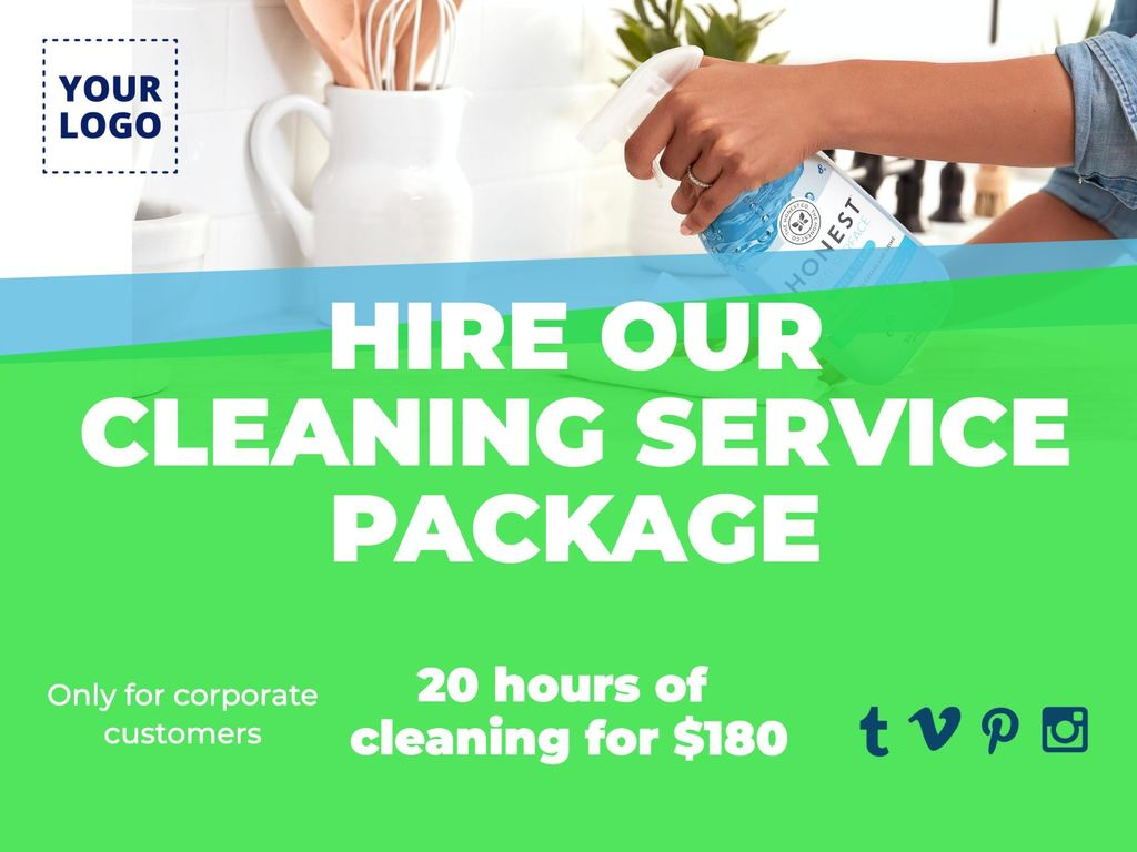 Designs for cleaning services