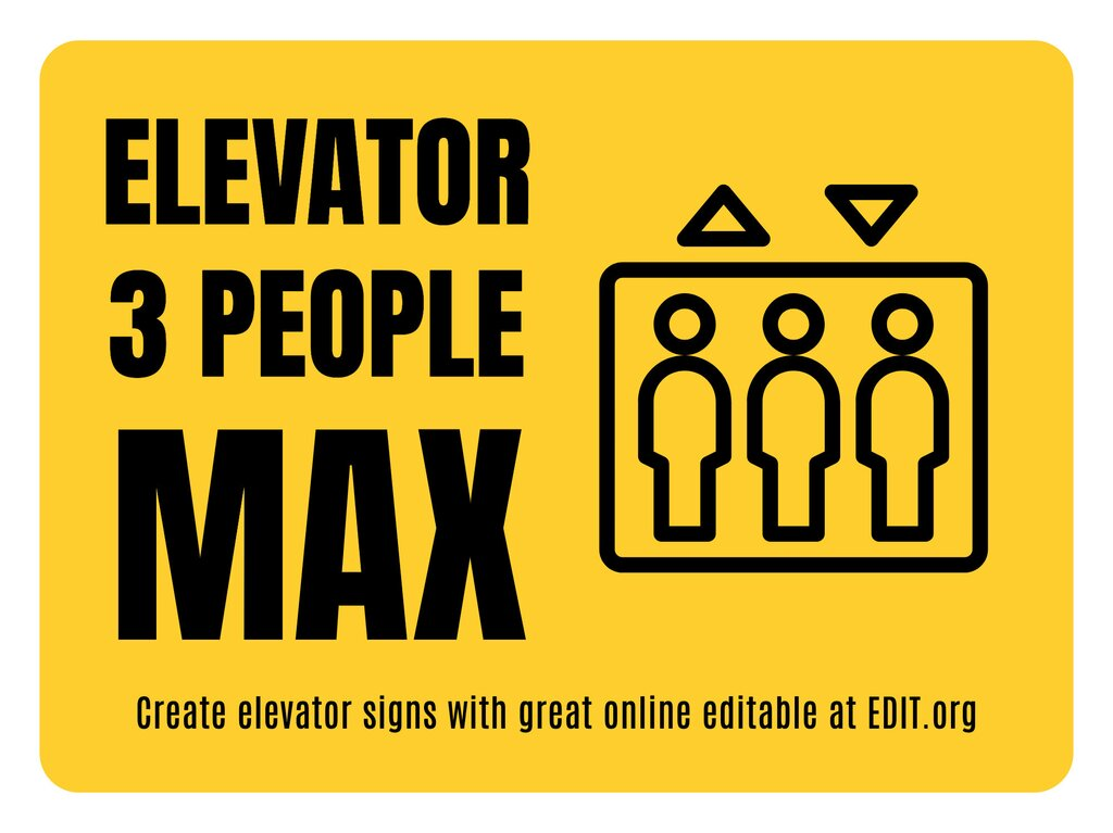 Edit an elevator sign