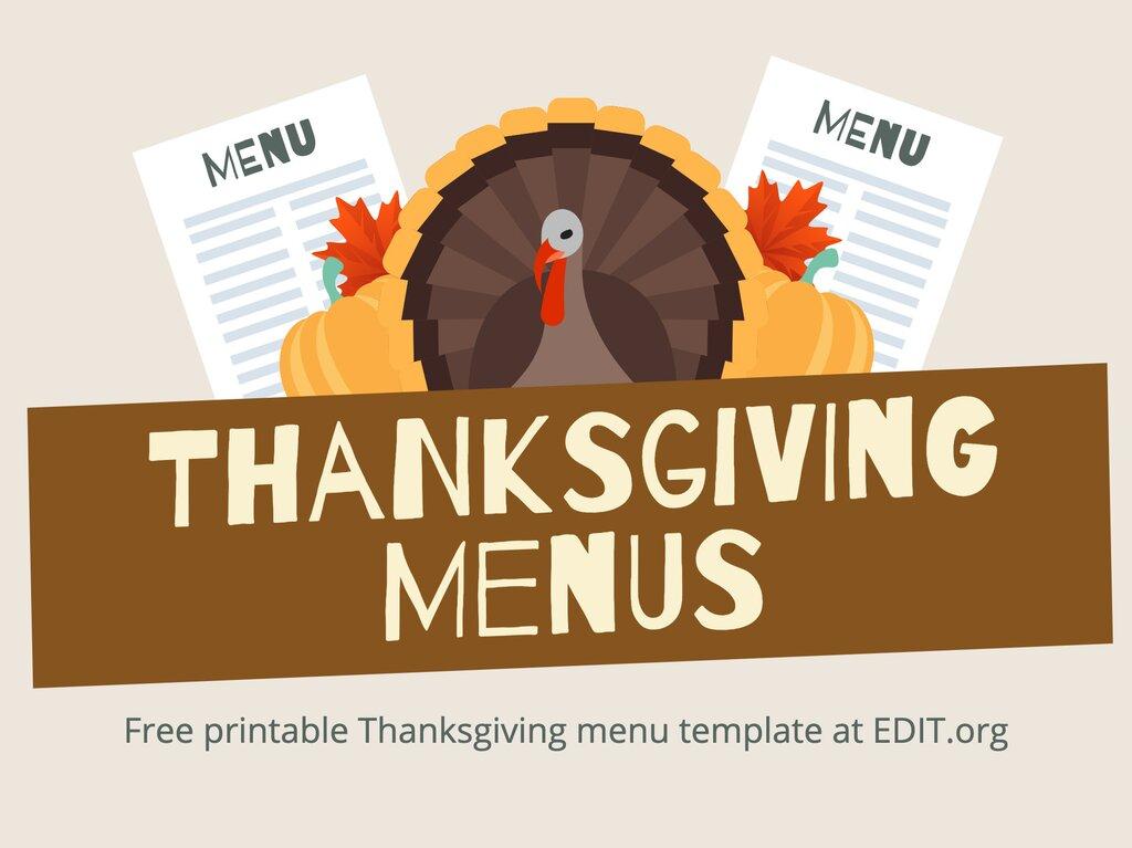 Edit a Thanksgiving menu