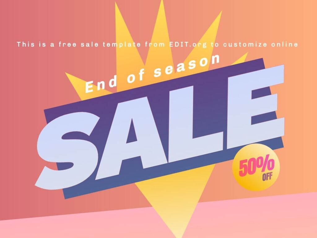 Sale posters to customize online