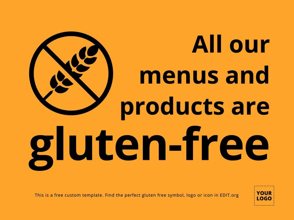 Edit a gluten-free template