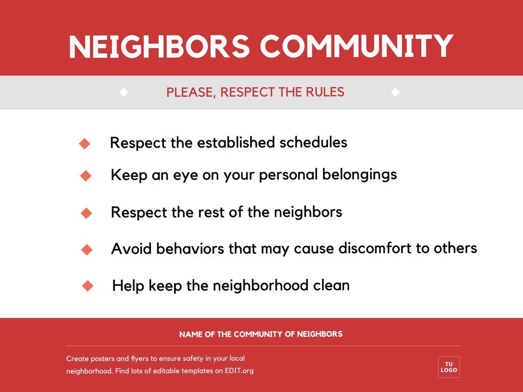 Edit a neighborhood sign
