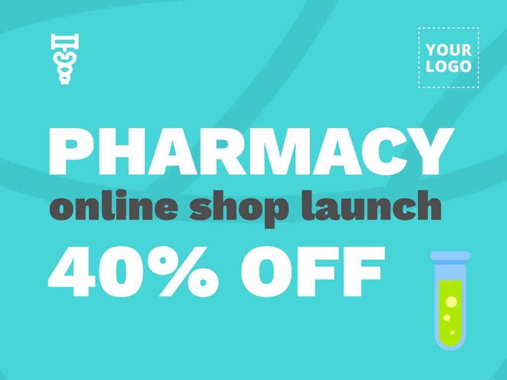 Template designs to promote pharmacies