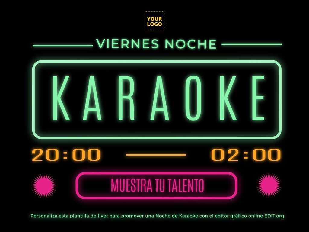 Edita un flyer de Karaoke