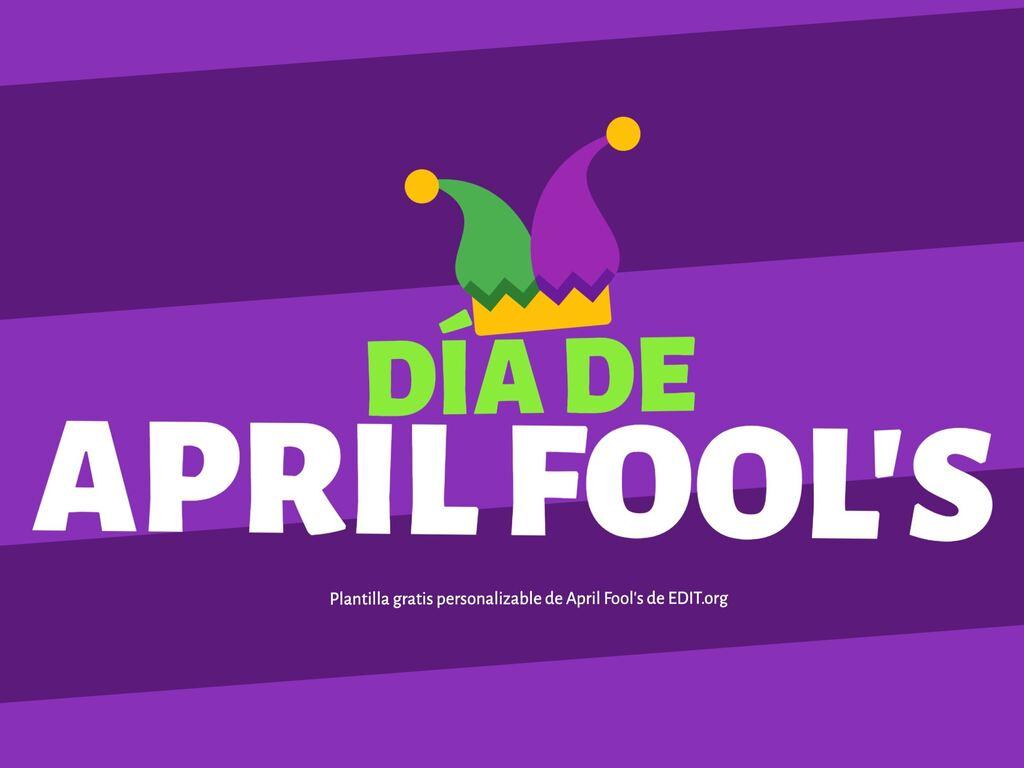 Plantillas para promociones de April Fools