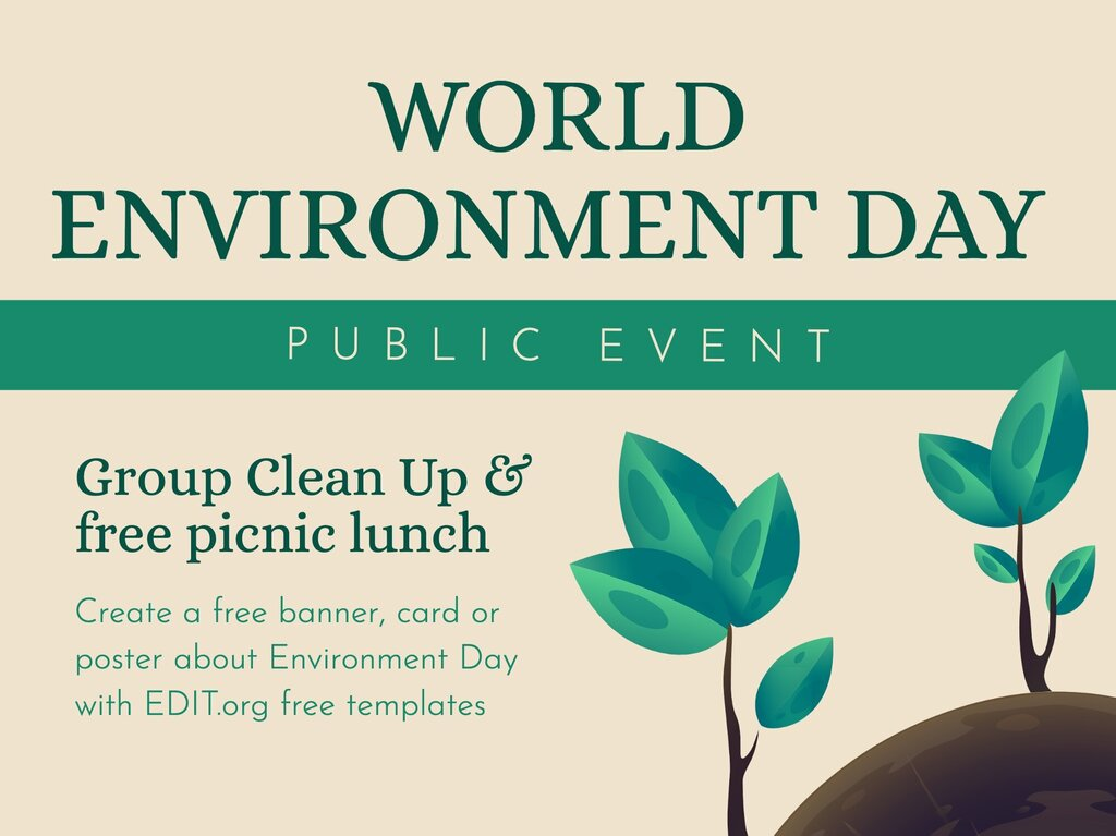 Edit a World Environment Day template