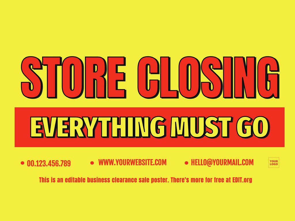 Closing and liquidation signs for your business