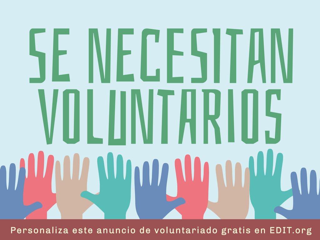 Edita una plantilla para encontrar voluntarios