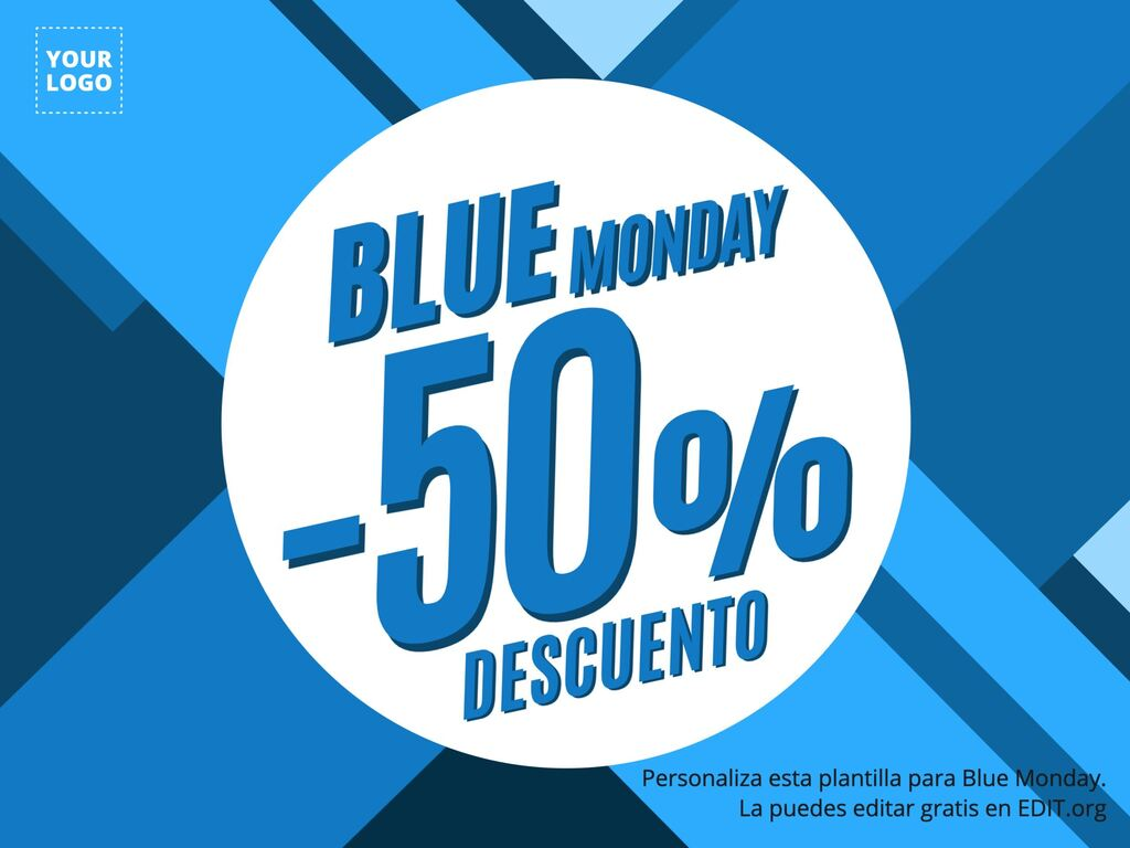 Edita un cartel para el Blue Monday