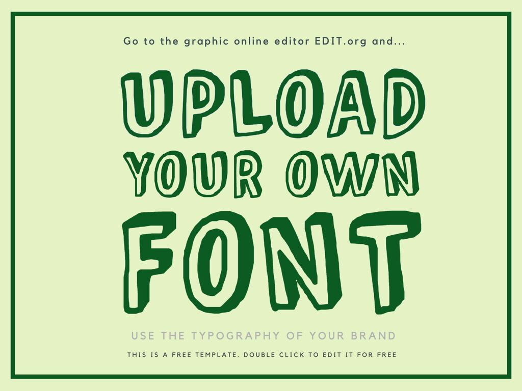 Upload your fonts on the editor