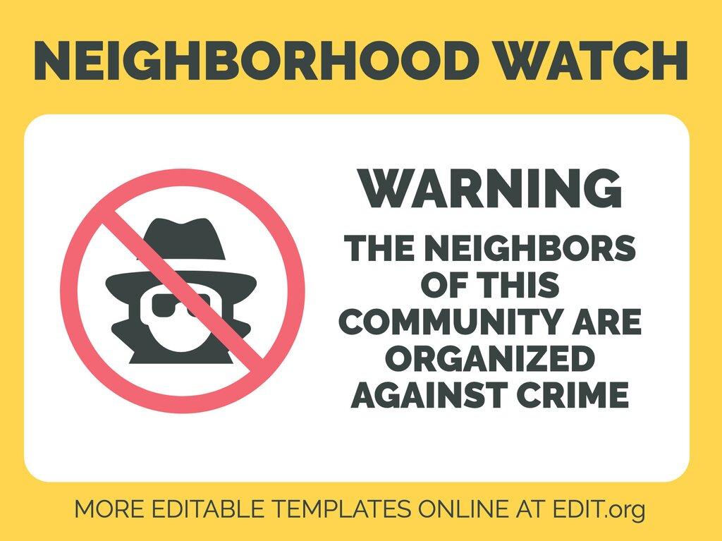 Edit a Neighborhood Watch sign