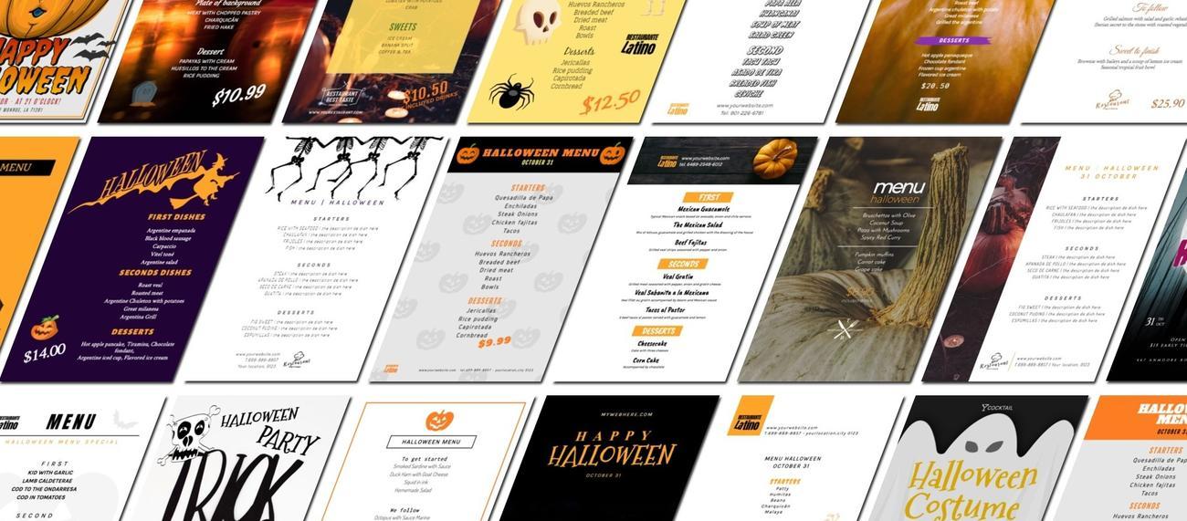 Editar una plantilla de Halloween