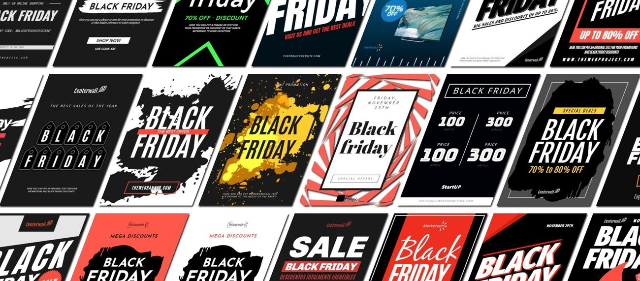 Crear banners y carteles para el Black Friday