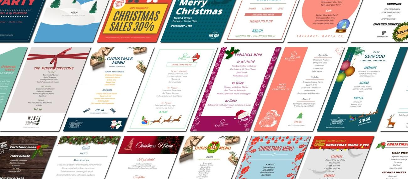 Create designs for your Christmas campaigns online