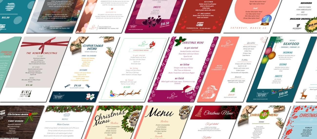 Create restaurant menus online and free
