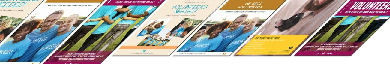 Create your own volunteers wanted design