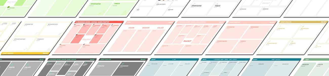 Templates to create Canvas Business model online