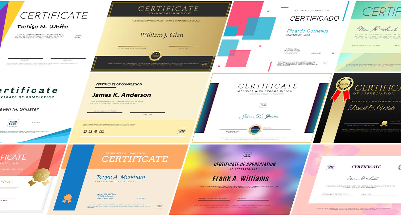 Create my diploma or certificate