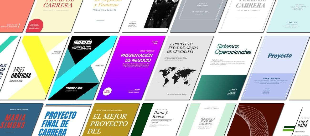 Diseña tus portadas para trabajos gratis con EDIT