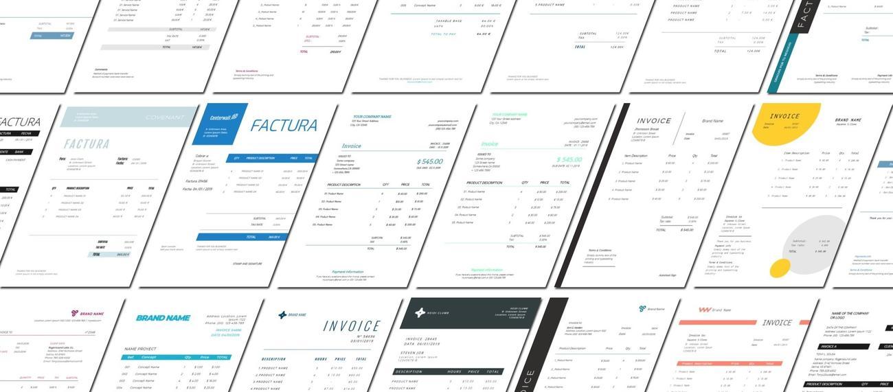 Modelos de factura para editar online gratis
